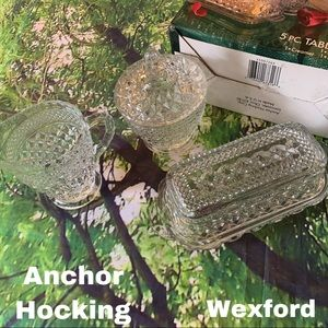Anchor Hocking Wexford New 5 pc Vintage Table Set